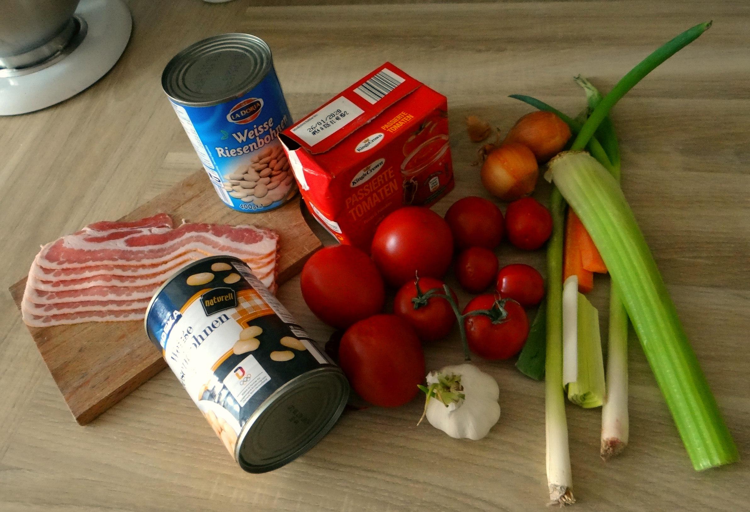 Bohnen-Tomatensuppe mit Bacon (4)