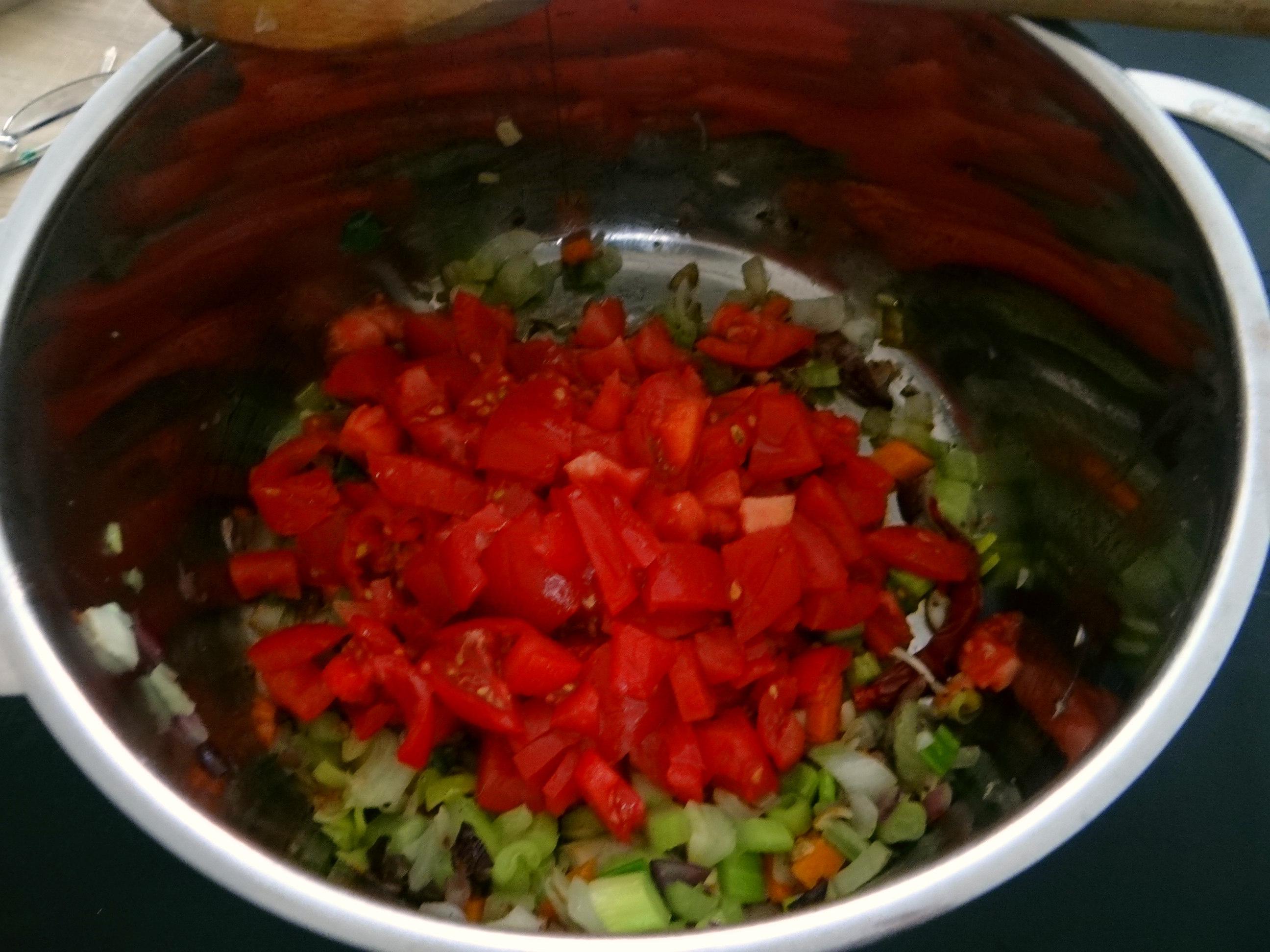 Bohnen-Tomatensuppe mit Bacon (7)