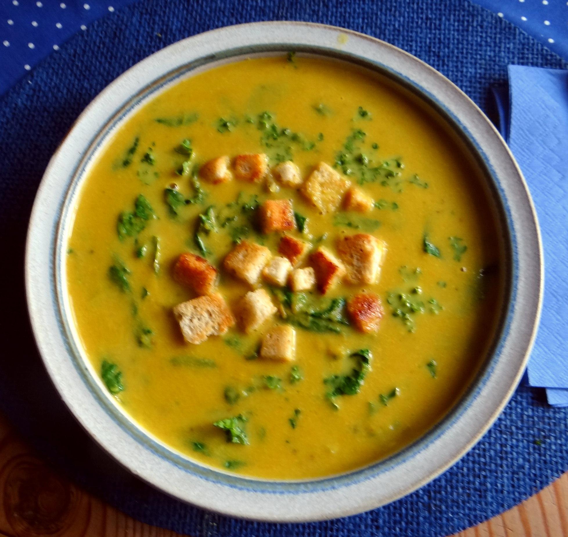 Gemüsesuppe püriert mit Spinat (1f (17)