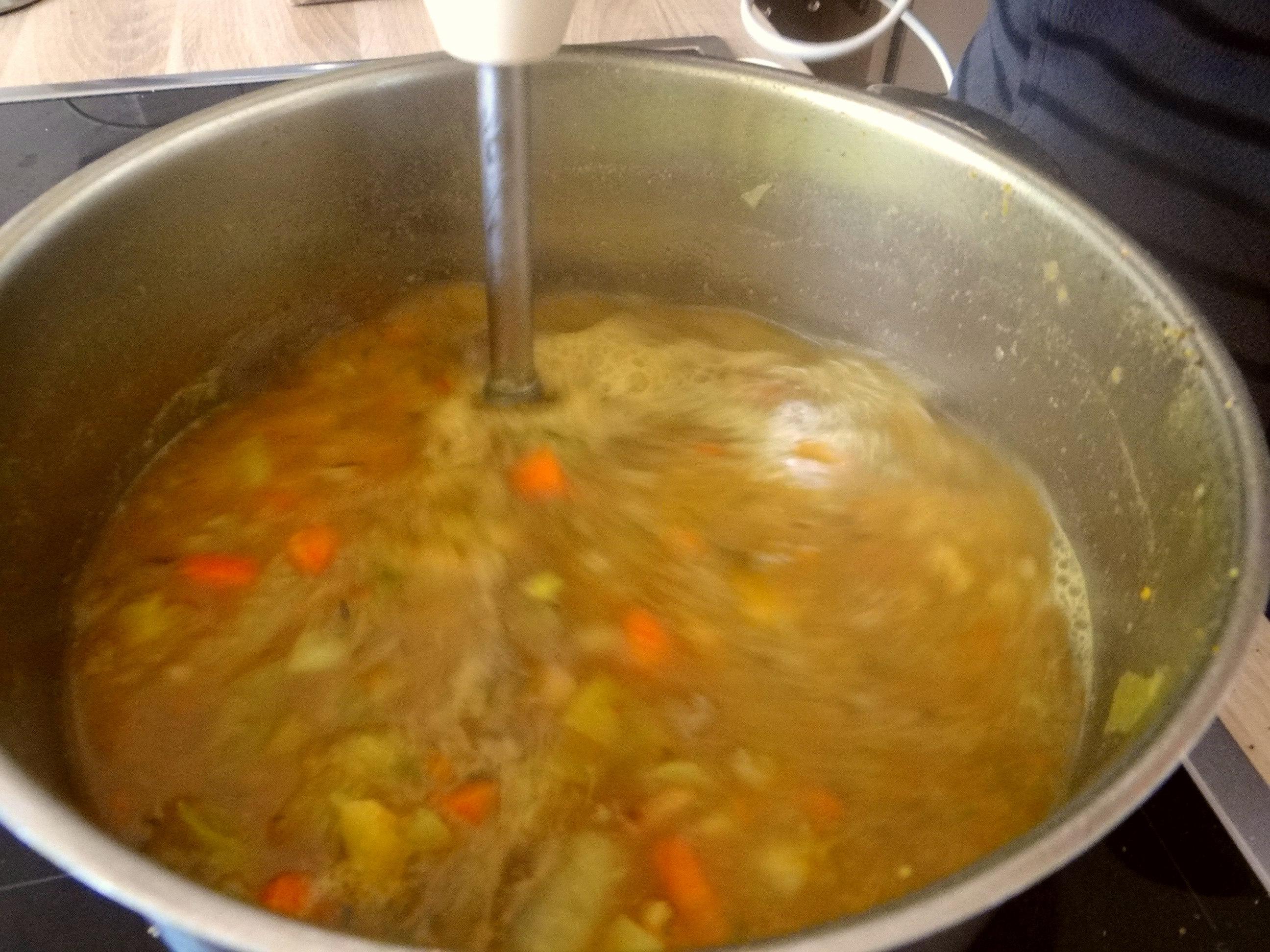 Gemüsesuppe püriert mit Spinat (1f (9)