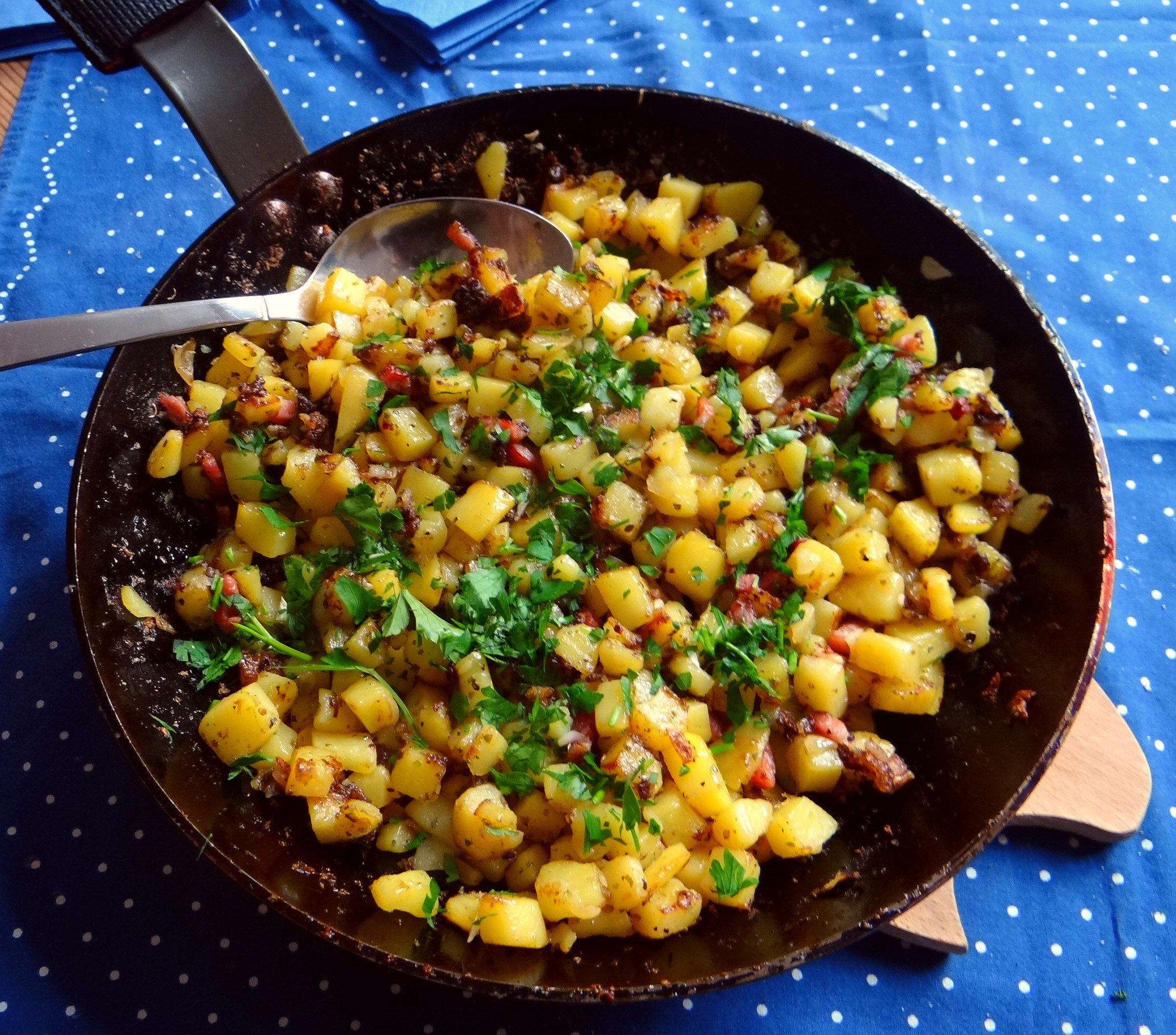 Geschmorter Chinakohl mit rohgebratenen Kartoffeln (11)