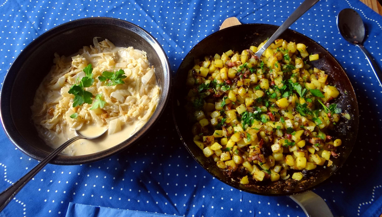 Geschmorter Chinakohl mit rohgebratenen Kartoffeln (5)