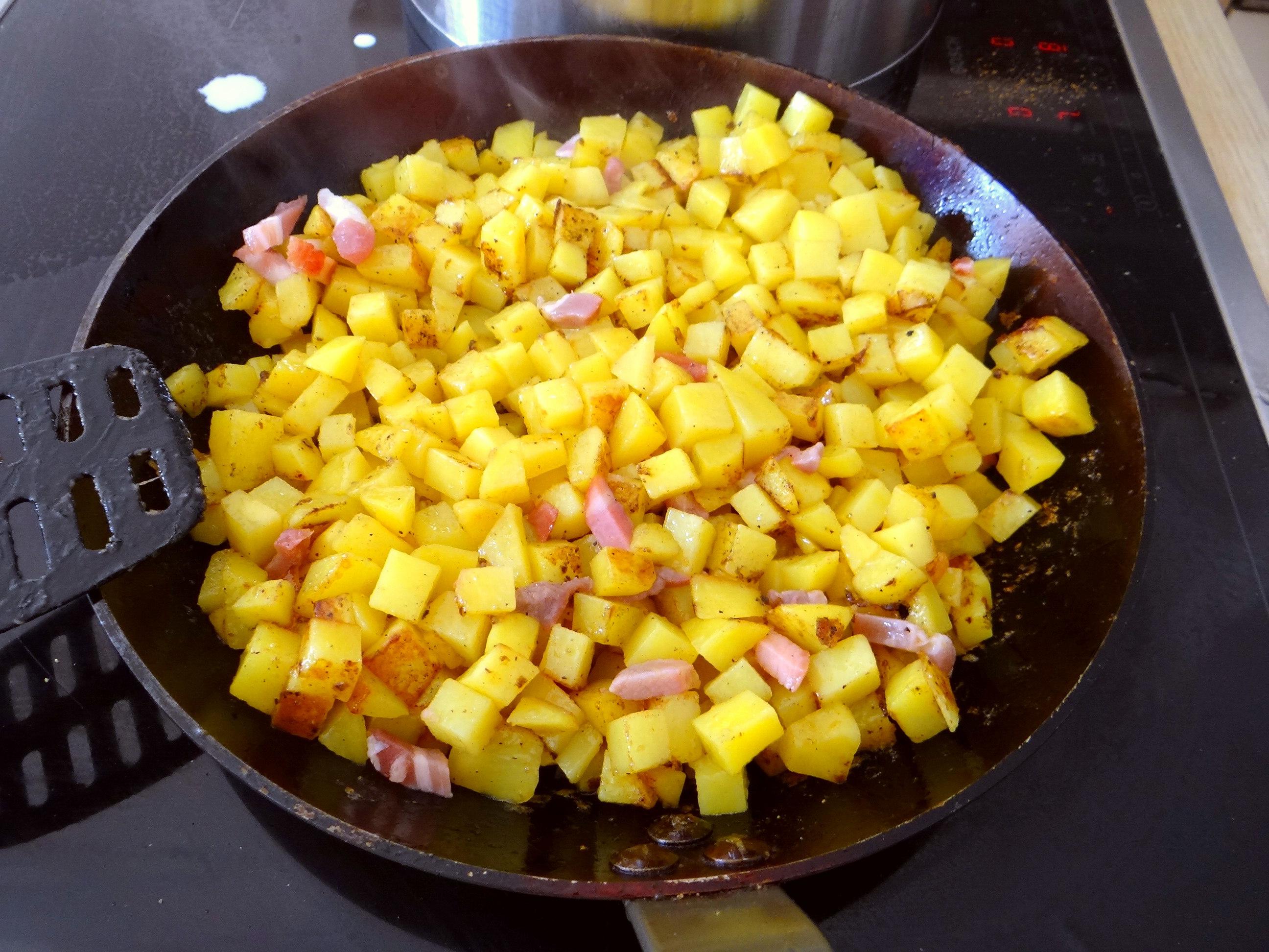 Geschmorter Chinakohl mit rohgebratenen Kartoffeln (8)