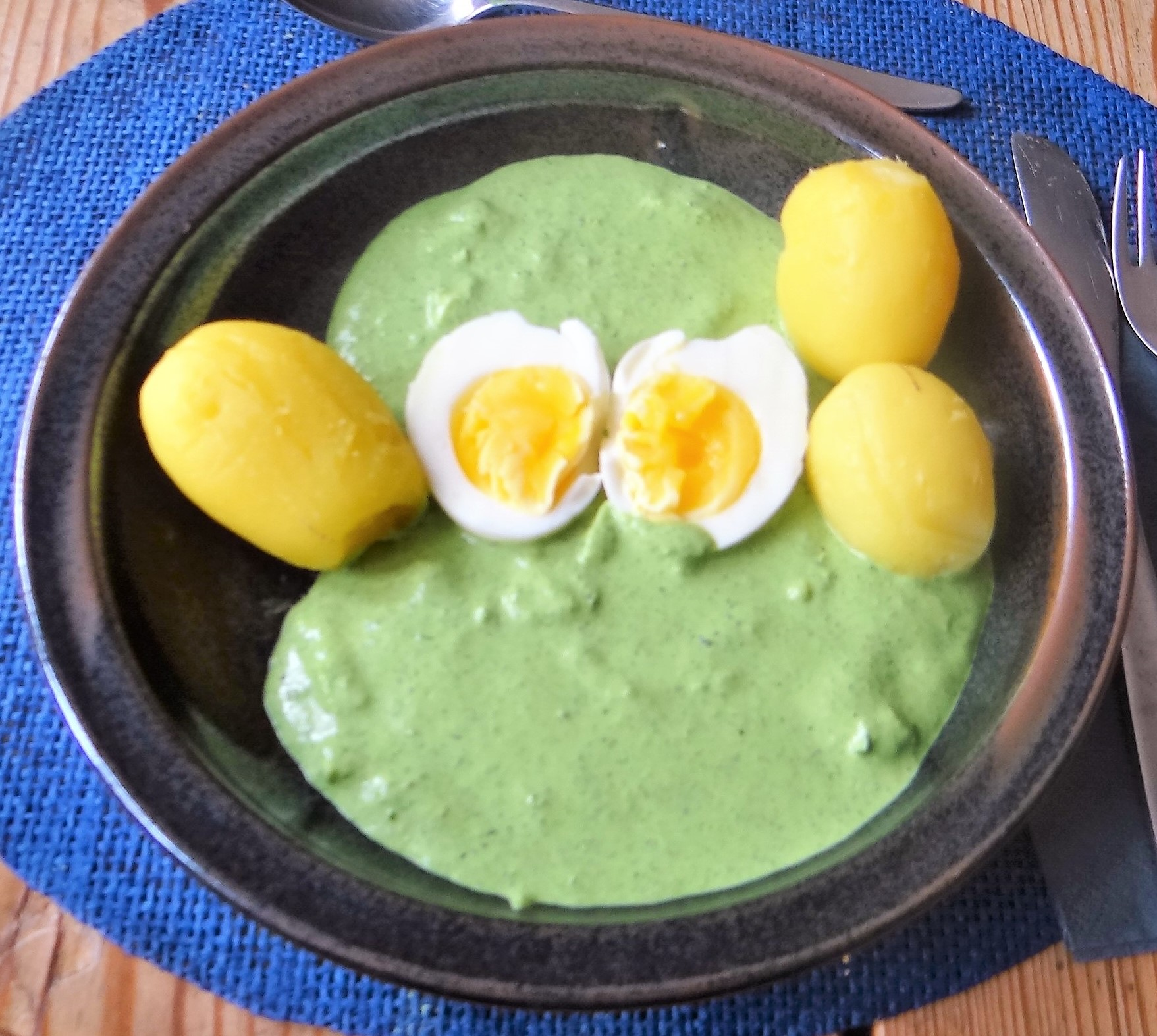 Grüne Soße mit Pellkartoffeln (2)