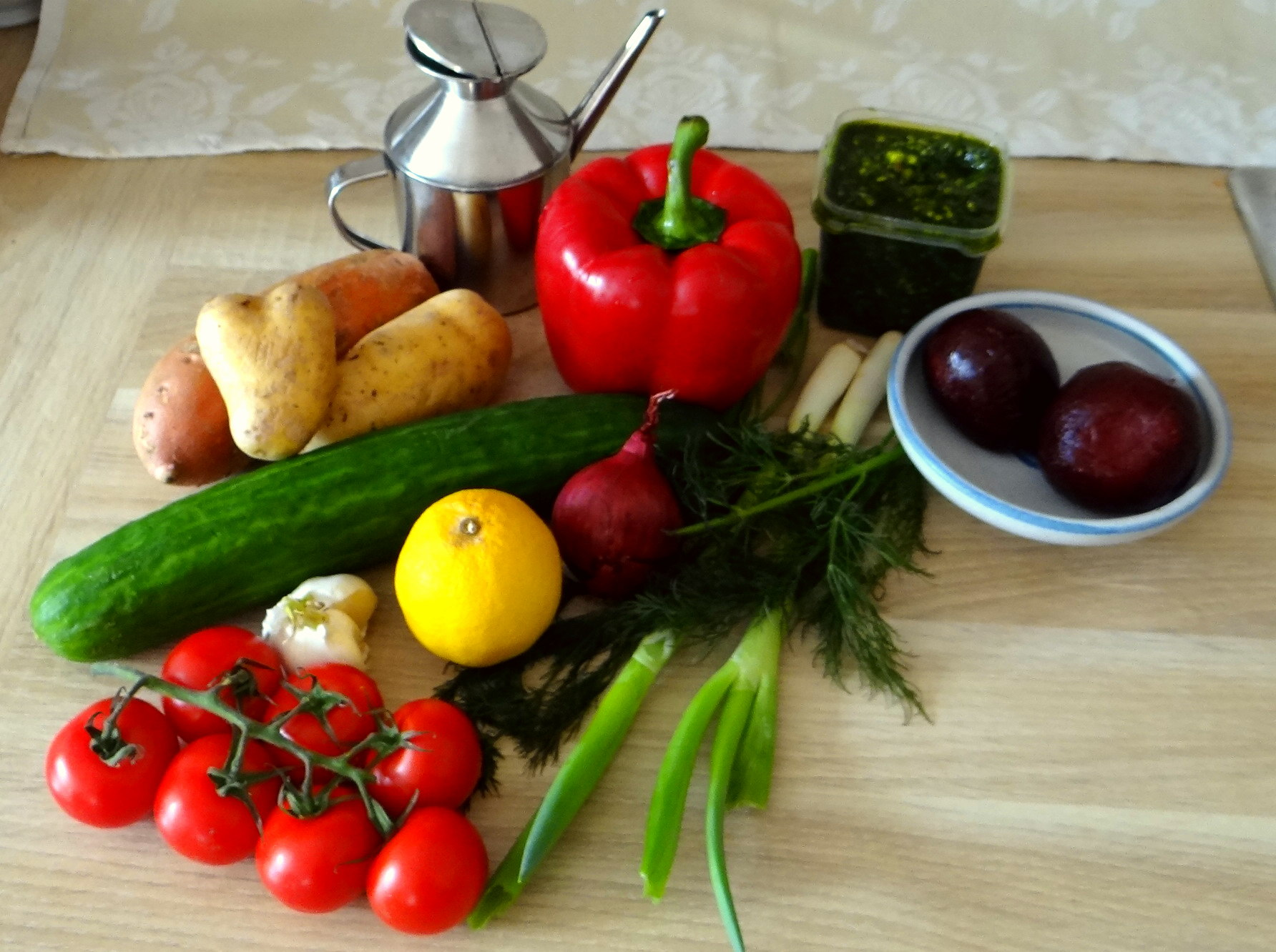 Israelischer Salat und Ofenkartoffeln (5)