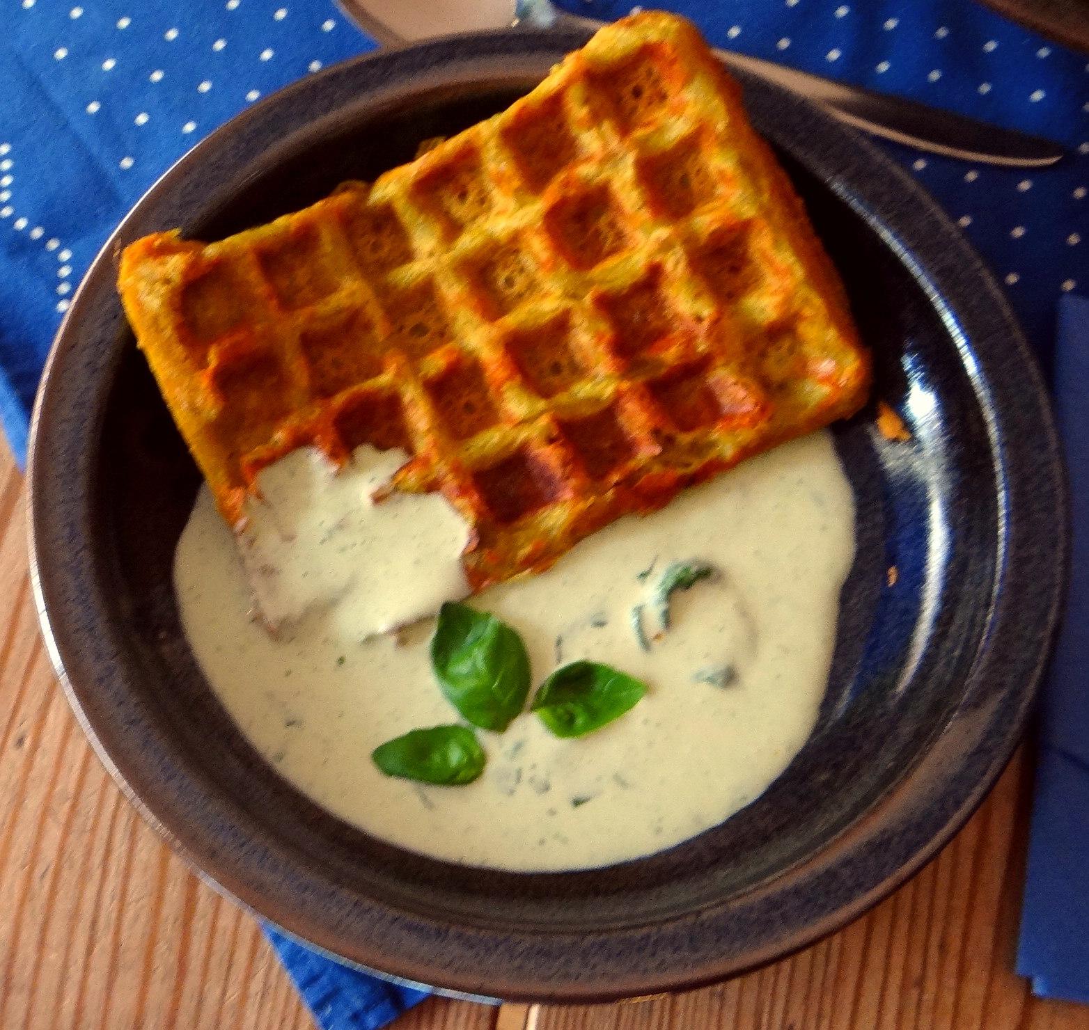 Käsewaffel mit zitronen Feta Creme (2)