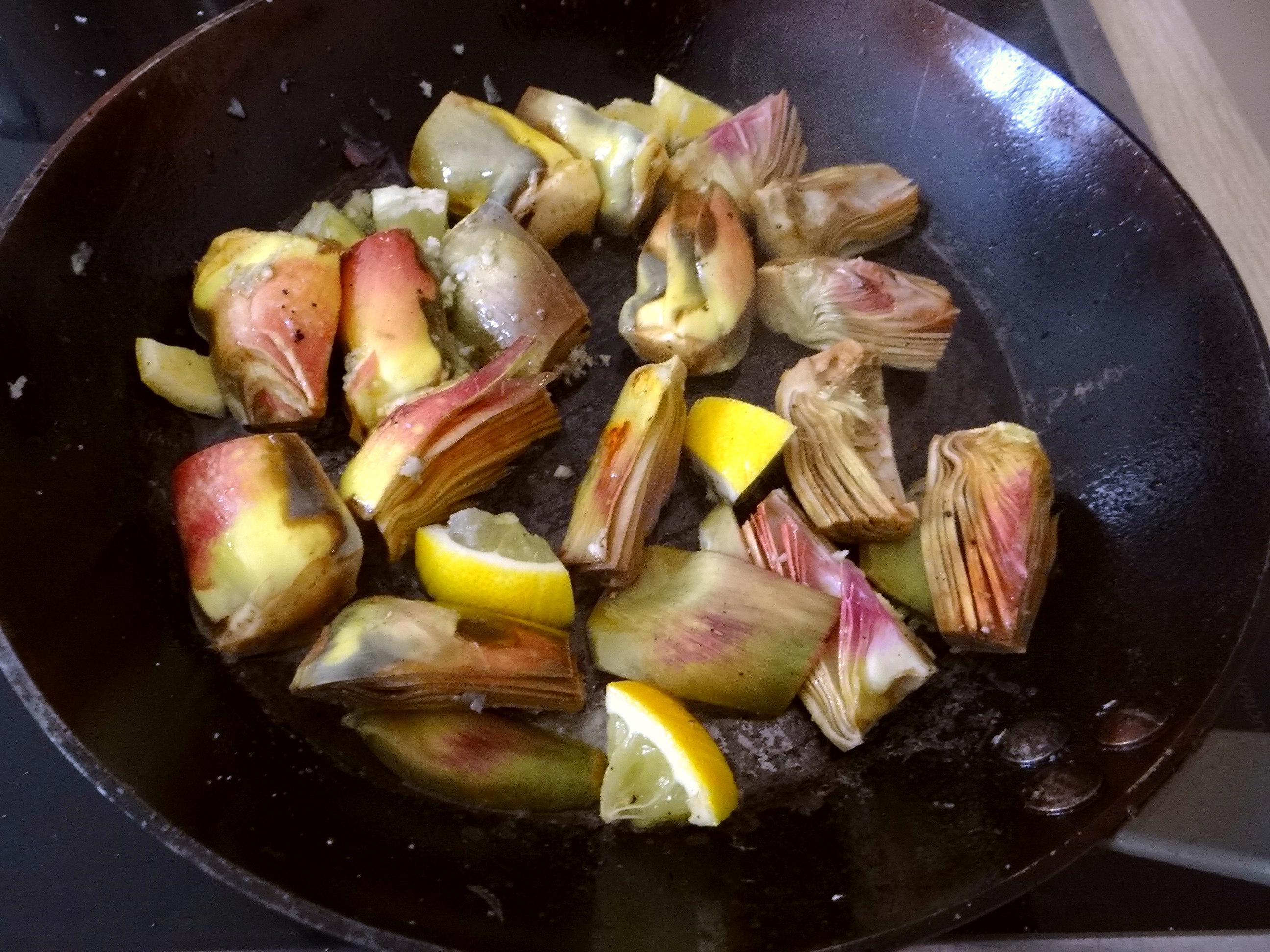 Zitronen Risotto und Artischocken (10)