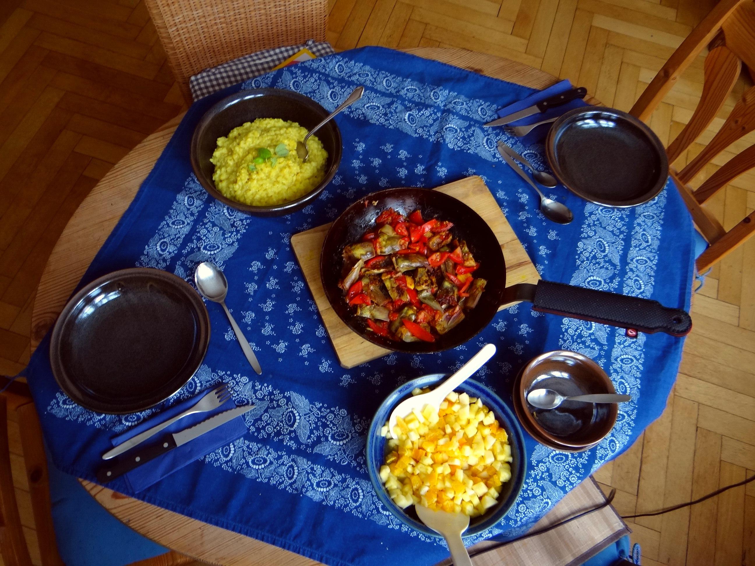 Zitronen Risotto und Artischocken (16)