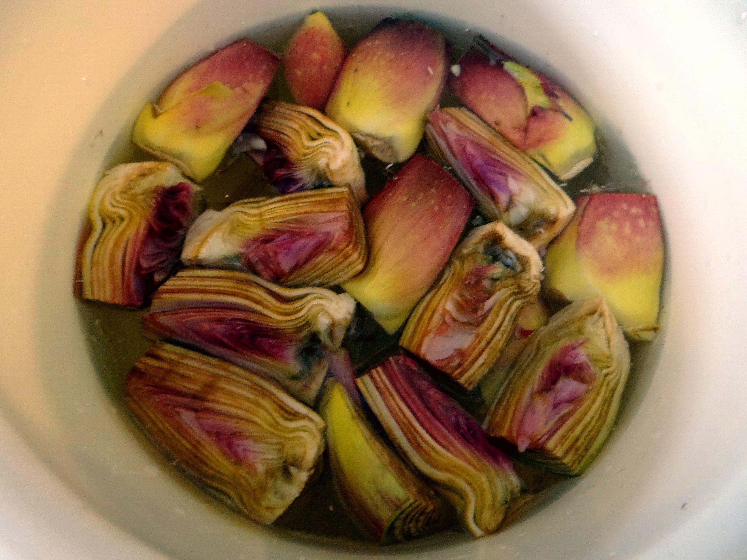 Zitronen Risotto und Artischocken (8)
