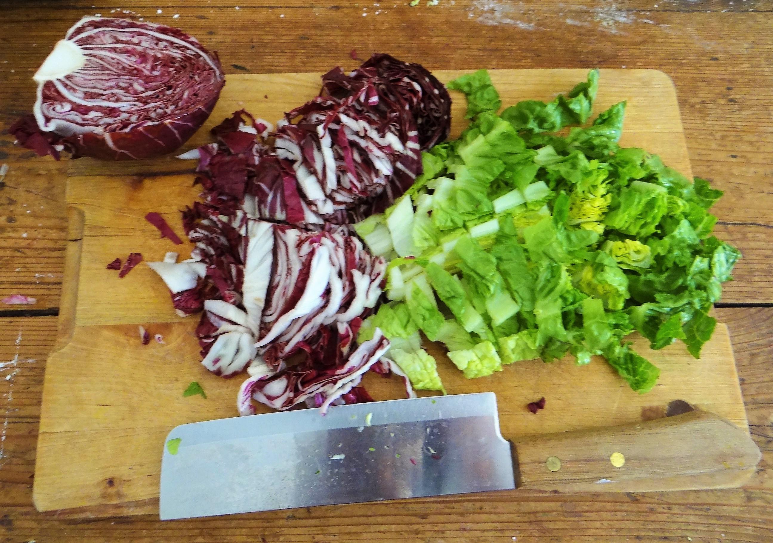 Bärlauch Gnocchis,Tomatensauce,Salat (9)