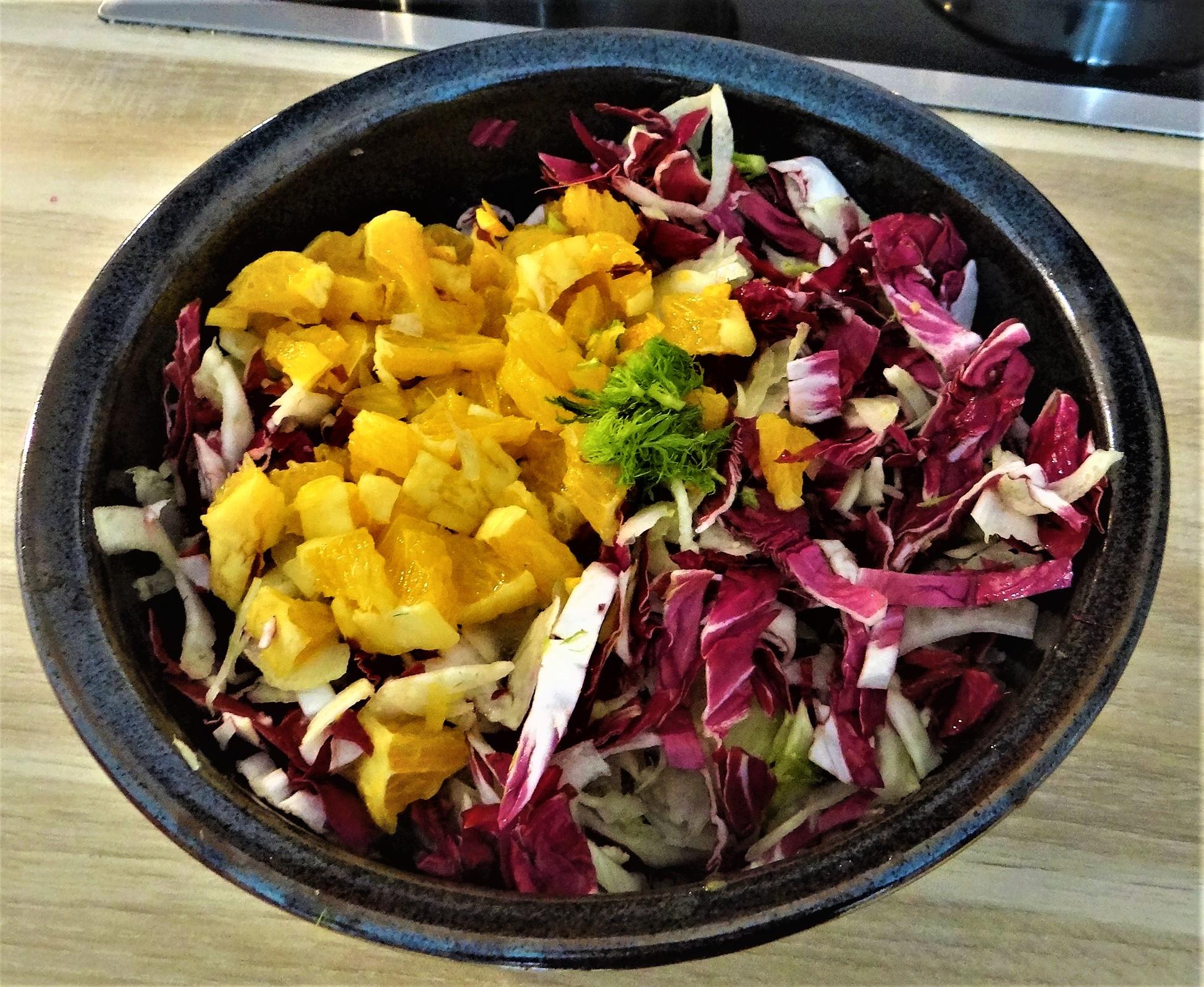 Biohähnchen mit buntem Salat (13)
