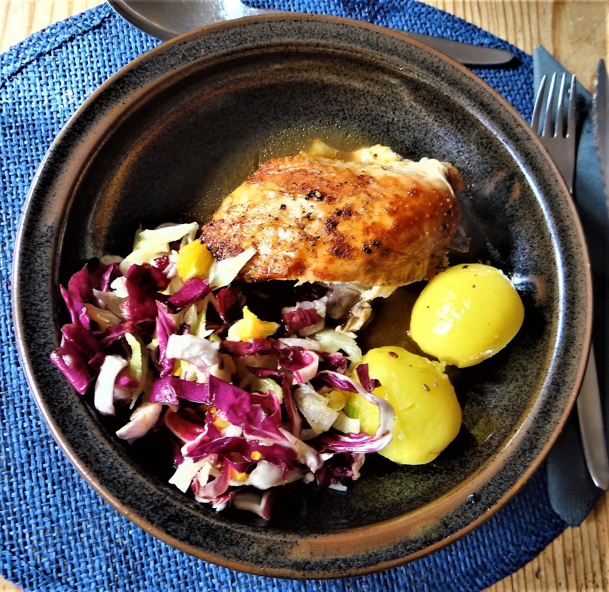 Biohähnchen mit buntem Salat (17)