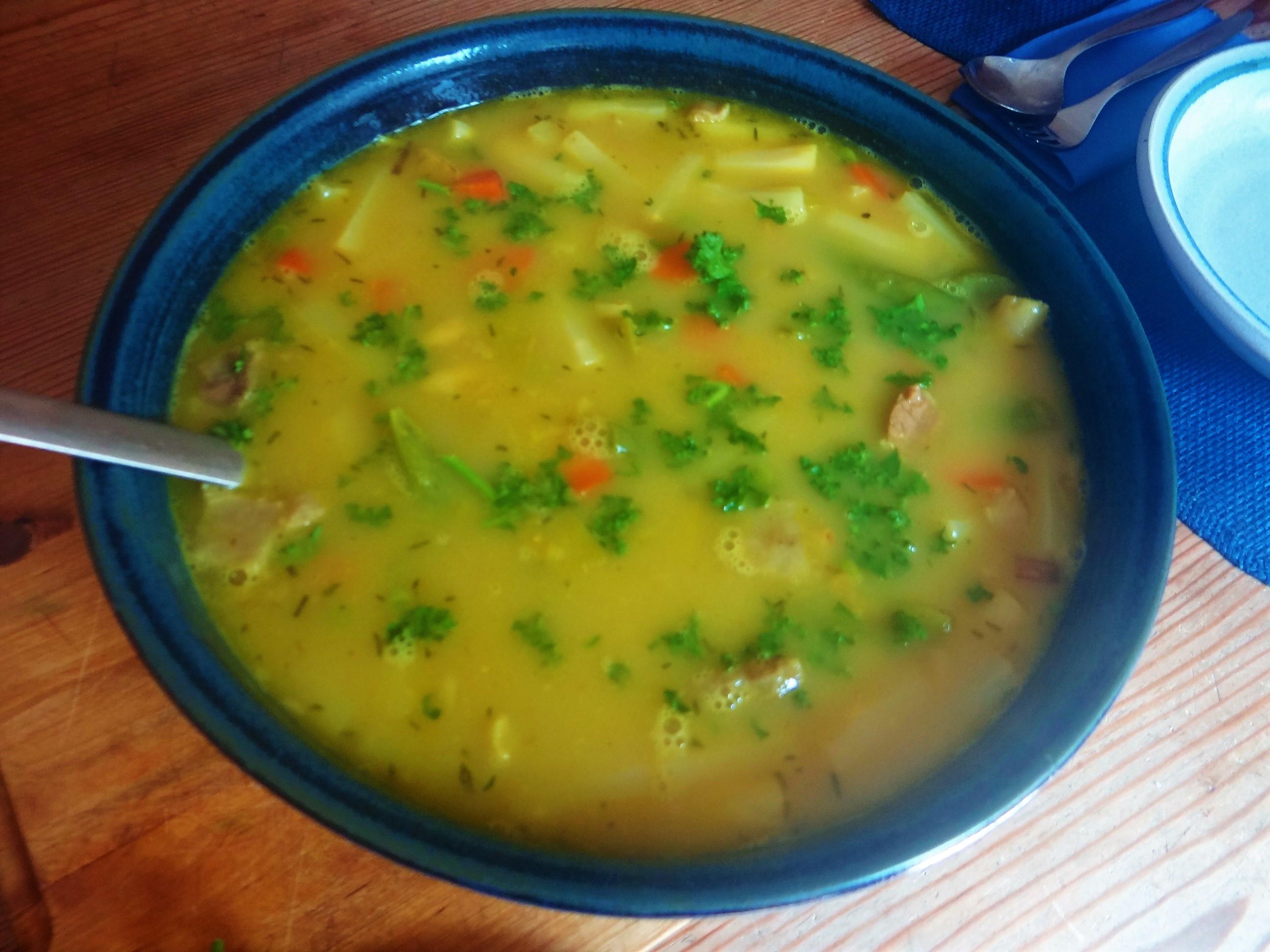 Gemüsesuppe mit roten Linsen (10)