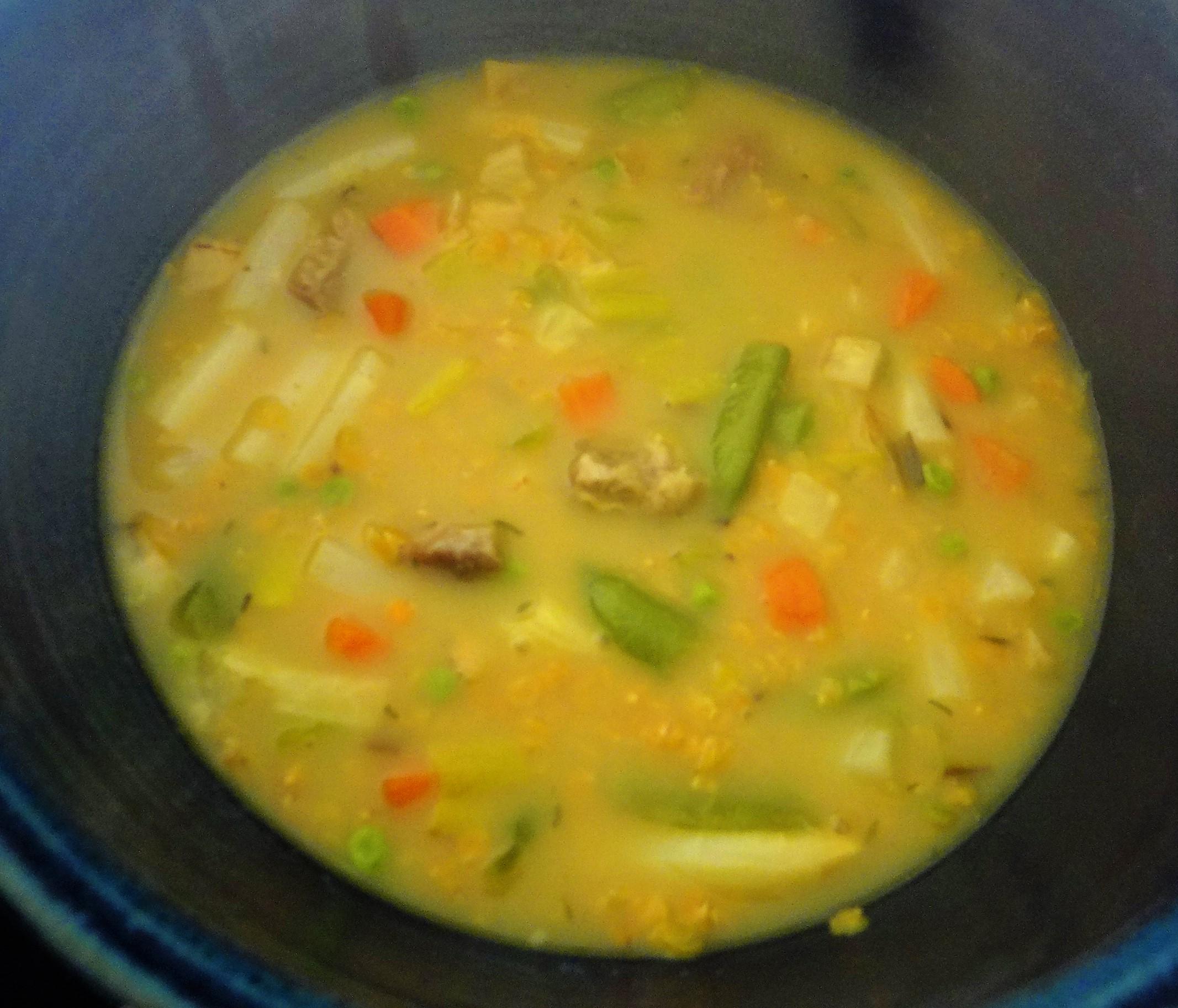 Gemüsesuppe mit roten Linsen (8)