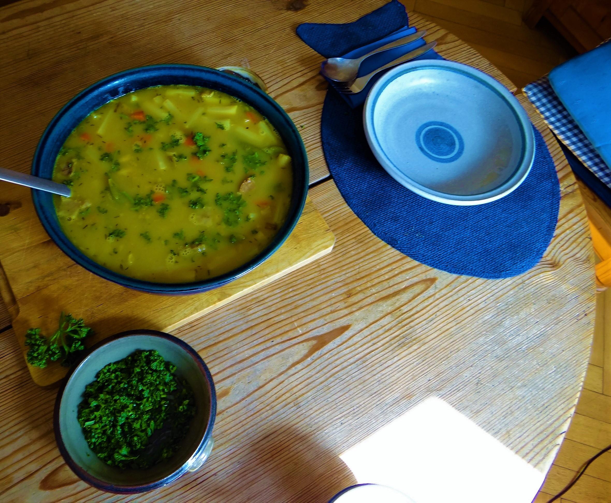 Gemüsesuppe mit roten Linsen (9)