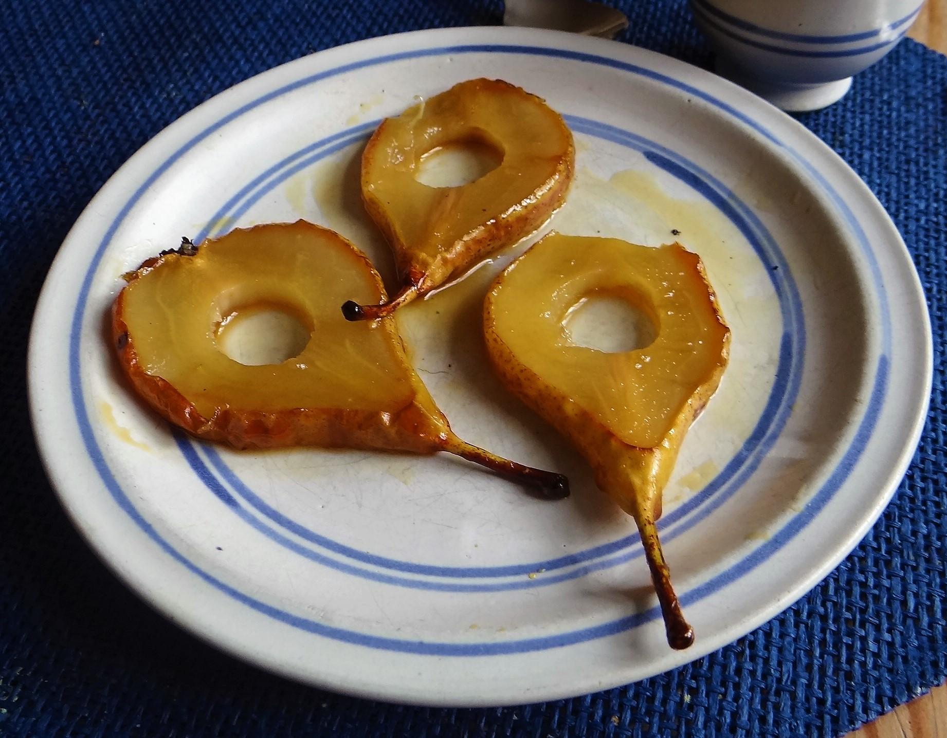 Möhrensuppe,Birnen Dessert (4)