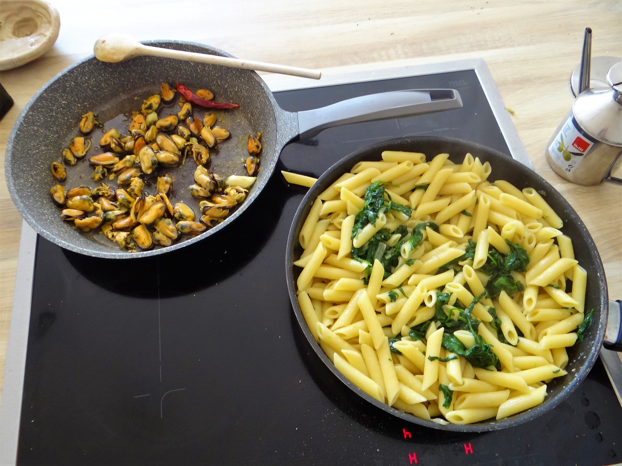 Nudeln,Spinat,Muscheln (3)