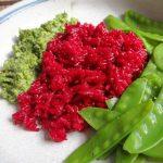 Gemüsepfanne-(Zucchini-Paprika-Tomate-Peperoni-Frühlingszwiebel)-geräucherte Forelle-gekochte Eier-Kartoffeln (pescetarisch)