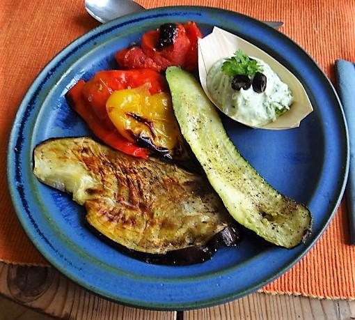 Ofengemüse,geräucherter Lachs,Bärlauch Dip (1)