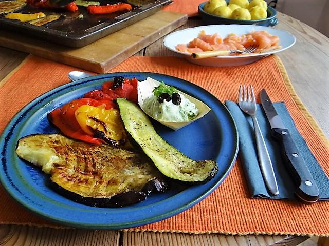 Ofengemüse,geräucherter Lachs,Bärlauch Dip (14)