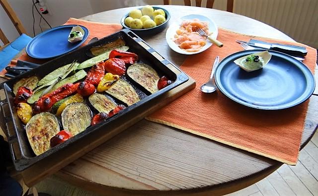 Ofengemüse,geräucherter Lachs,Bärlauch Dip (4)