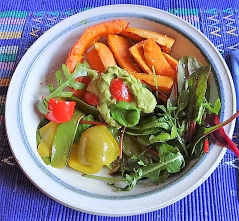 Süßkartoffeln,Kürbis,Guacamole (2)