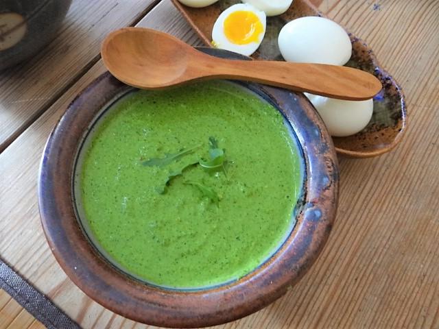 Bohnen Thunfisch Salat mit Rucola Pesto und Ei (9)