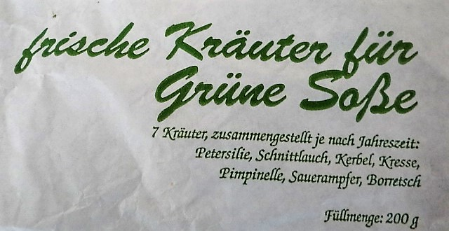 Frankfurter grüne Soße,Puntarelle(1)