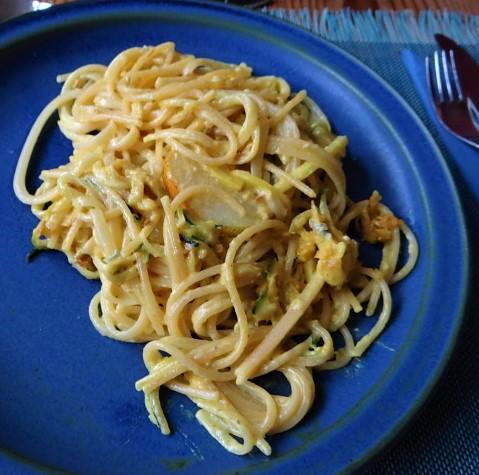 Pastinaken-Zucchini Zoodles,Spaghetti,Gorgonzolasauce (2)