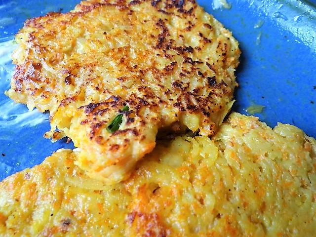 Kartoffel-Möhren Pupper mit Quark Dip und Fenchelsalat (3)