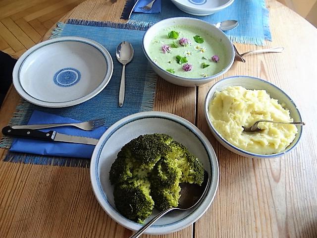 Wildkräutersauce ,Kartoffelstampf,Brokkoli (3)