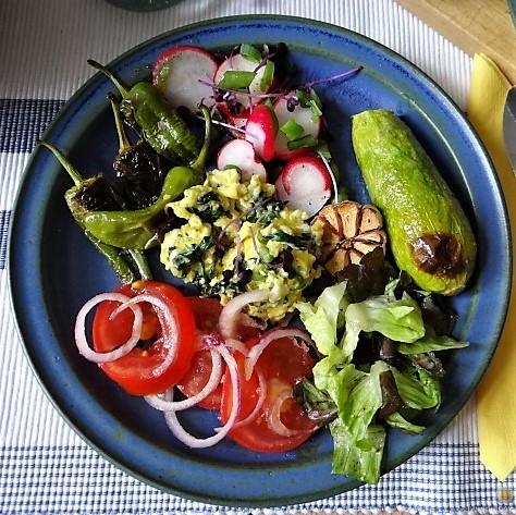 Gemüse,Salat und Ei (2)