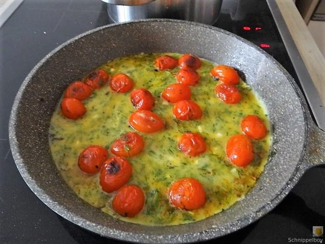 Linsennudeln, Tomaten mit Rührei (6)