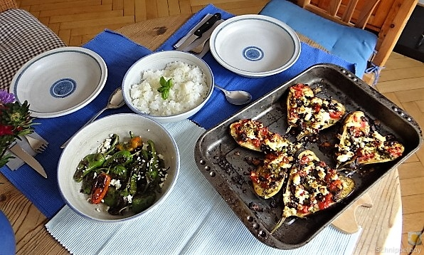 Auberginen,Tomate,Feta,Pimientos,Reis (4)