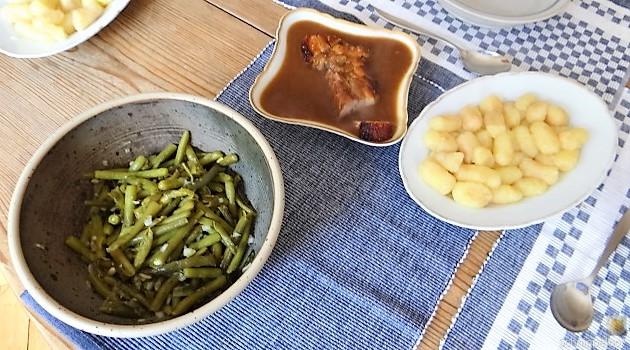 Bauchfleisch,Gnocchis,Bohnensalat (21)