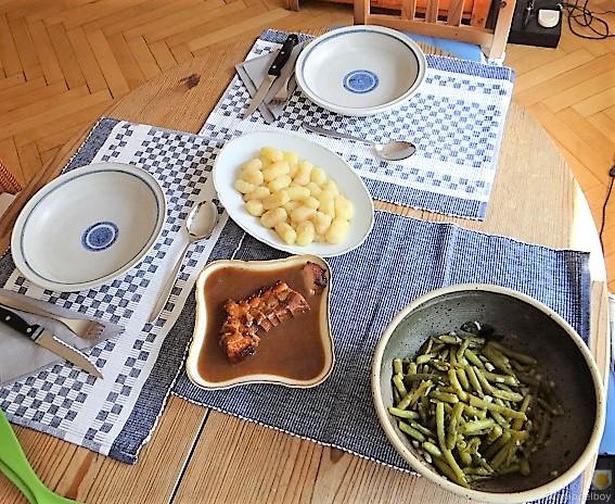 Bauchfleisch,Gnocchis,Bohnensalat (4)