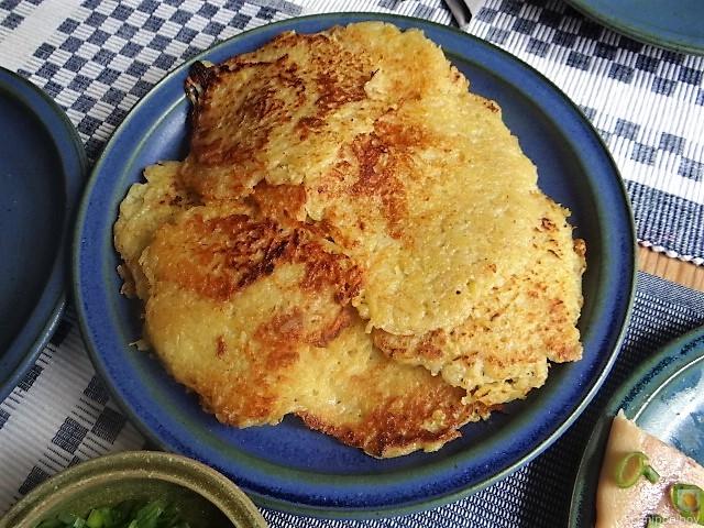 Kartoffelpuffer,geräucherteForelle,Weißkohlsalat,Nchtisch (23)