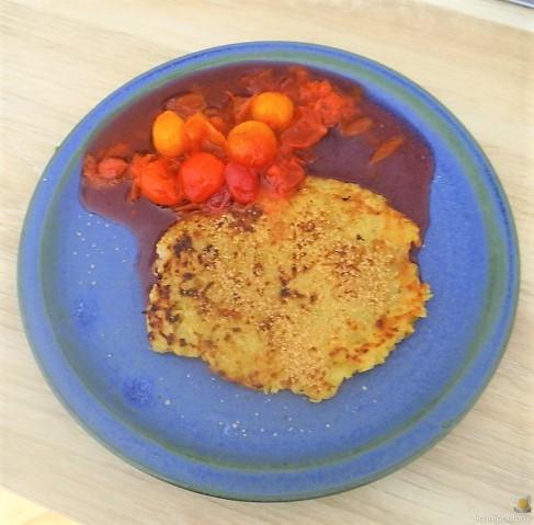 Kartoffelpuffer,geräucherteForelle,Weißkohlsalat,Nchtisch (29).JPG