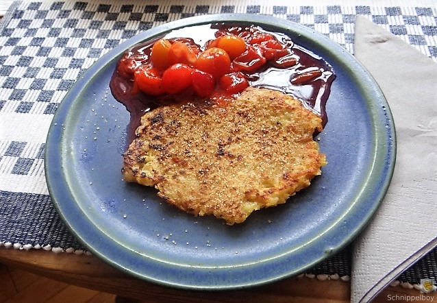 Kartoffelpuffer,geräucherteForelle,Weißkohlsalat,Nchtisch (5)