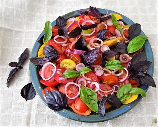 Polenta mit Babyspinat und Tomaten (21)