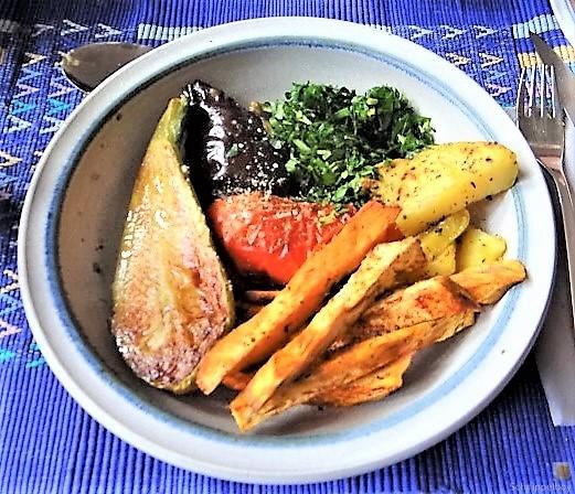 Gremolata, Ofengemüse,Pommes (3)