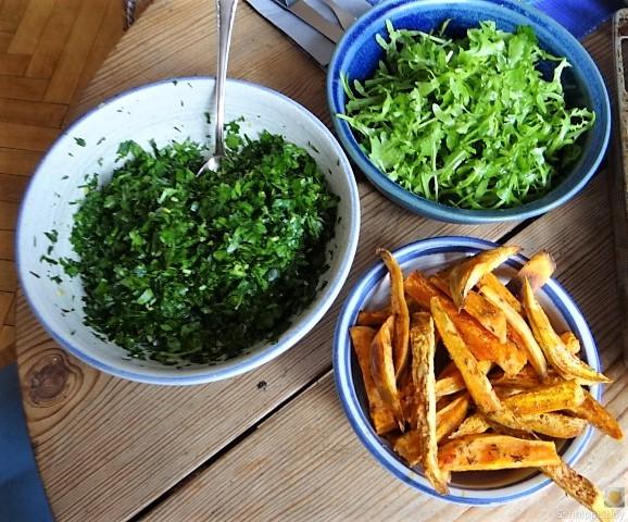 Gremolata, Ofengemüse,Pommes (5)
