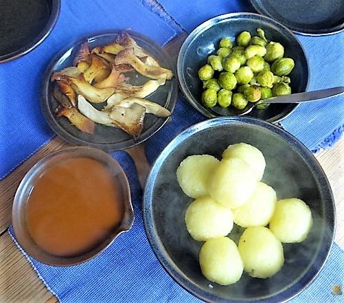 Klöße,Pilze,Rosenkohl (5)