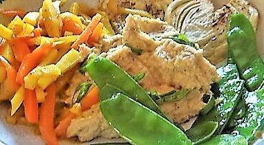 Selleriepürree und Gemüse (3)