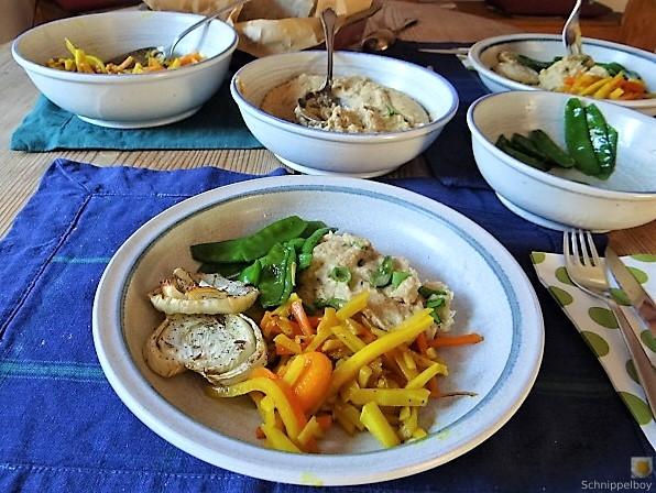 Selleriepürree und Gemüse (4)