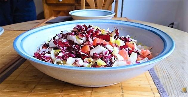 Chicoree,Radiccio,Birne und Grapefruit (2)