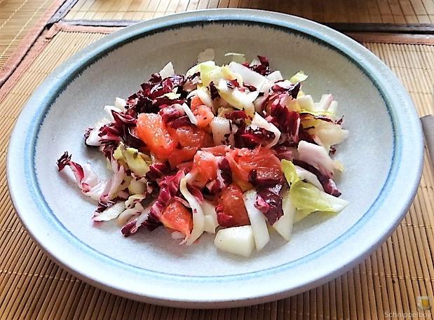 Chicoree,Radiccio,Birne und Grapefruit (8)