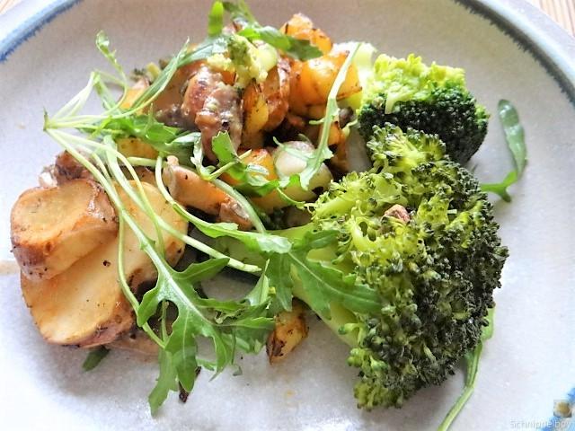 Topinambur,Champignon, Kartoffeln,roh gebraten (22)