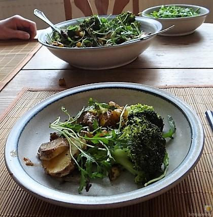 Topinambur,Champignon, Kartoffeln,roh gebraten (4)