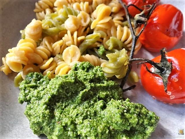 Fussili mit Ruccola Pest und Ofentomaten (3)